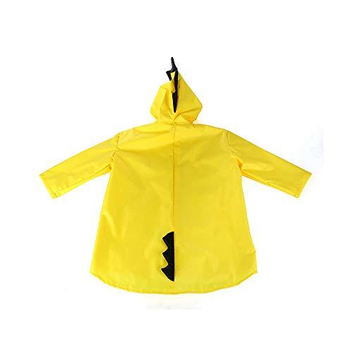 QTDH Kinder Cartoon Regenjas - Unisex Kids Regen Cape - Noodwaterdichte Herbruikbare Hooded Regen Poncho - Studenten Poncho - Ga naar school