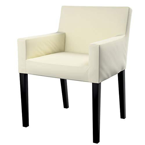 Dekoria Nils Stuhlhusse Husse Stuhlbezug Stuhlkissen passend für IKEA Modell Nils altweiß