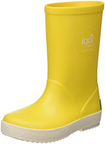 IGOR Splash Náutico, Stivali di Gomma Unisex-Bambini, Giallo, 31 EU