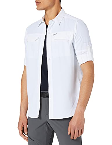 Columbia Silver Ridge 2.0 Camisa de Manga Larga, Hombre, Blanco, XXL