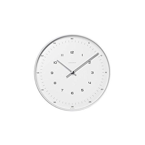 max bill Design-Wanduhr im Bauhaus-Stil | Quarz-Uhrwerk | Made in Germany | Ø 22 cm | Zahlen-Zifferblatt
