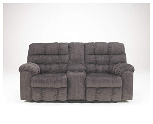 Signature Design by Ashley Acieona Double Reclining Loveseat with Console Slate