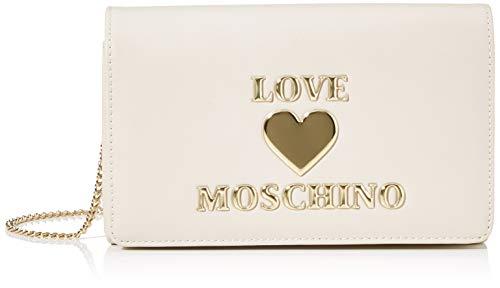 Love Moschino PU, Borsa da Donna, Avorio, Normale