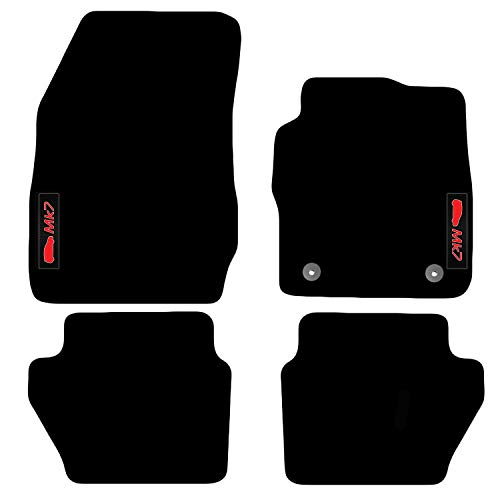 Carsio Tailored Carpet Car Floor Mats FOR Fiesta MK7 2012 to 2017 (2 Clips)