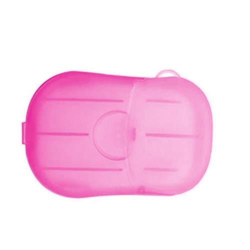 Tongina 1 caixa de sabão papel sabão descartável lavagem limpeza mão para cozinha toalete viagem ao ar livre acampamento caminhadas - Rosa