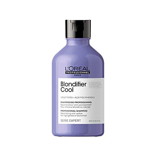L'Oréal Professionnel   Anti-Gelbstich Shampoo für blondes und blondiertes Haar, Açaibeeren-Extrakt, Serie Expert, Blondifier Shampoo Cool, 300 ml