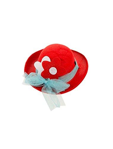 Deiters Mini Sombrero Hongo Payaso con Blume Rojo