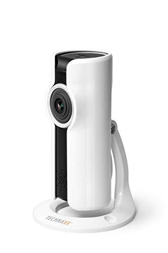 Technaxx IP-Security Kamera 180° TX-108 Bewegungserkennung Überwachungskamera WLAN IP Kamera, 4769, Weiß