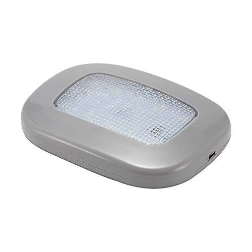 Blingbin - Lámpara de techo para coche, recargable, USB, magnética, 2 W, color gris