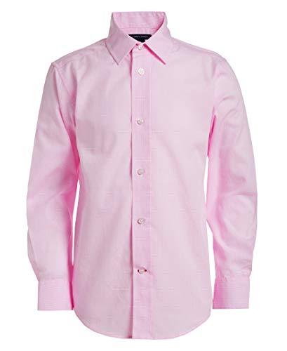 Tommy Hilfiger Little Boys Long Sleeve Cross Gingham Dress Shirt, Light Pink, 5