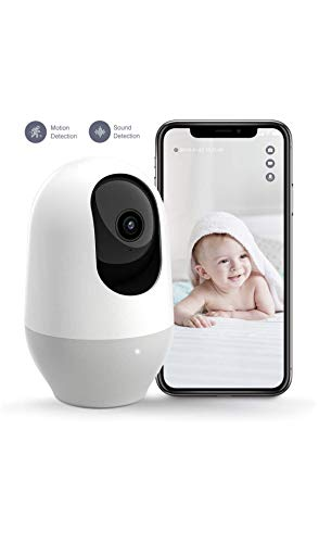 Nooie Baby Monitor, WiFi Pet Camera Indoor, 360-degree Wireless IP Nanny Camera, 1080P Home Security...