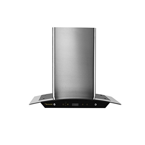 Butterfly 60cm 1200 m3/hr Chimney (Reflection, 1 Baffle Filter, Touch Control, Steel/Grey)