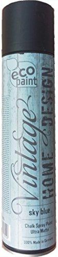 Vintage Kreide Spray skyblue 400ml Kreidefarbe himmelblau Chalk Paint Shabby Chic Landhaus Stil Vintage Look