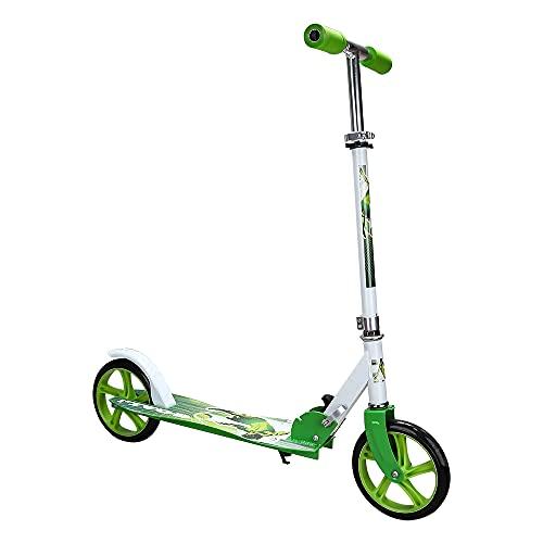 EINFEBEN Kinder Scooter klappbar 3 Höhenverstellbar mit 205mm Big Wheels Räder & Tragegurt Mädchen und Junge Freizeit City Roller hinterradbremse Roller (Grün)