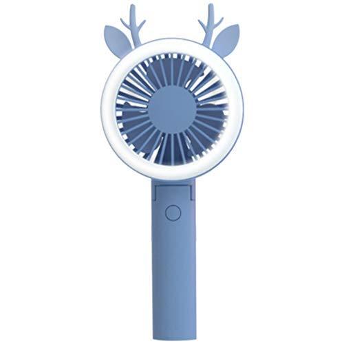 LKK-KK Los Aficionados Recargables de Aire del Ventilador portátil USB luz portátil de Aire de refrigeración Ventilador de Escritorio LED Azul