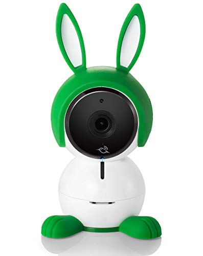 Arlo ABC1000-100EUS Arlo Baby Monitor Smart WiFi Full HD, audio 2 vie, visione notturna, sensori d'aria, ninna nanne, luci notturne, funziona con Alexa, Google Home, Apple HomeKit, Bianco