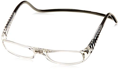 (クリックリーダー)Clic Readers クリックユーロ 老眼鏡 EBC ブラック&クリアー +2.00 老眼