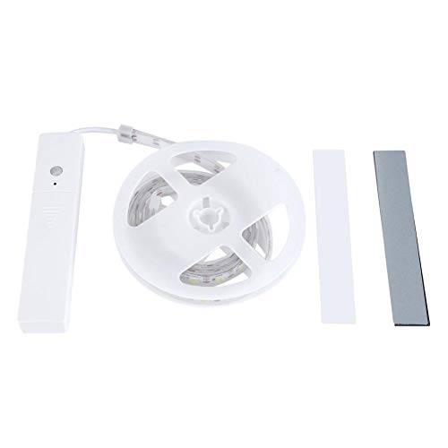 Striscia di luce, striscia di luce notturna a LED striscia di illuminazione a LED flessibile automatica 60 LED luce notturna a LED, mini luce per armadio(Cold white light)