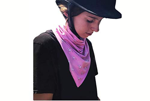 UPF 50+ V Neck Gaiter for Women and Girls, Best Neck and Chest Sun Protection for Outdoor Activities and Sports, Original Horse Design, Dusty Rose