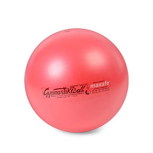 PEZZI Original Gymnastikball MAXAFE Ø 42 cm | 53 cm | 65 cm | 75 cm belastbar bis 400 kg robuster Sitzball Bürostuhl Fitness Reha Therapie (Rot, Ø 65 cm - bis 175 cm Körpergröße)