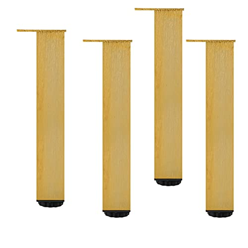 Patas Para Muebles,Patas de Mesa Cuadradas Ajustables,Patas de Mueble de Aleación de Aluminio,Patas de Armario,Patas De Armario,con Tornillo,para Sofá Mueble De TV,4 Piezas (150mm/5.9in)