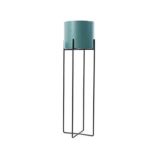 JSY schmiedeeiserner blumenstandplatz moderner minimalistischer blumentopfinnenwohnzimmer bodenständiger grüner Salbei Orchidee topfregal Blumenständer (Color : Green, Size : M)