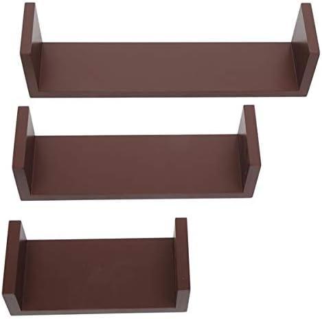 Set of 3 Floating Display Shelves Sto Max 79% OFF Bookshelf Mount Sale Wall Ledge