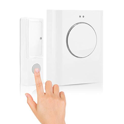 Waterproof Wireless DoorBell Door Chime Kit 200M Remote Home MP3 Download Cordless Door Bell Ring, Built-in 10 Chord Music, 64MB Memory