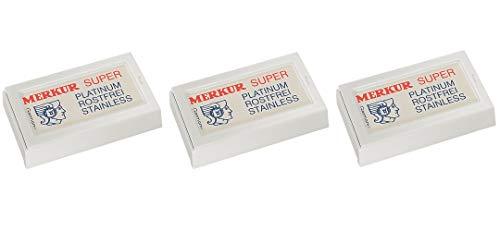 30x Merkur (0,60€/St) Rasierklingen Super Platinum für Rasierhobel, Futur Dovo