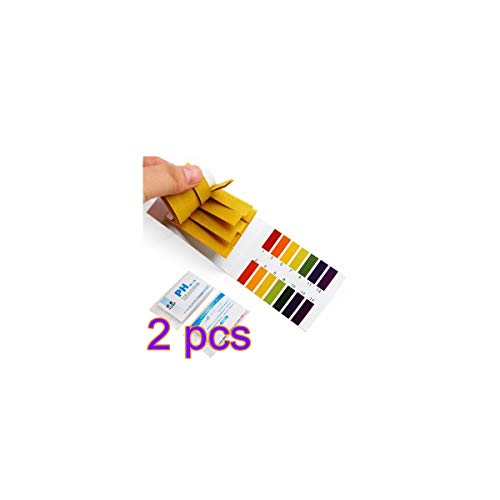 KBDSM PH Testpapier 160pcs pH-Testpapier Flüssigbereich 1-14 pH-Streifen für Wasser Boden Lackmus-Test