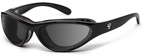 7eye by Panoptx Viento - Gafas de sol con lentes grises + gafas de sol deportivas para ciclismo y ciclismo