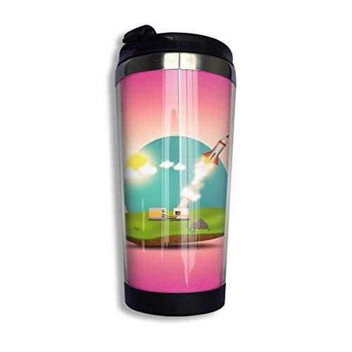Yuanmeiju CoffeeCup Rocket Launch Stainless Steel Taza de viaje Cup Water Bottle