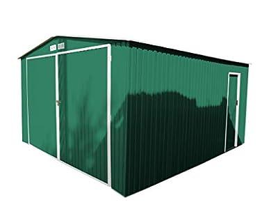 Guardini s p a GARDIUN KIS12963 - Garaje Metálico Norfolk 16 m² Exterior 420x380x232 cm Verde