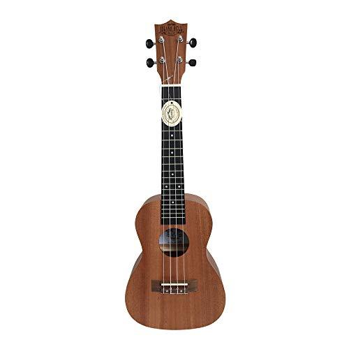 Island Bell Konzert-Ukulele in portugiesischer Form, mit gepolsterter Tasche, hawaiianische Gitarre, Musikinstrument 4 Saiten (Mahagoni-Korpus, 61 cm)