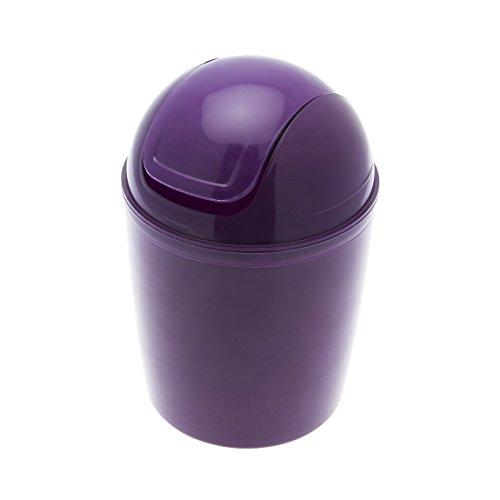 Carpemodo Kosmetikeimer Schwingdeckeleimer 1,5 l Volumen/Lila/Kunststoff/Ø 13.5 x 20 cm