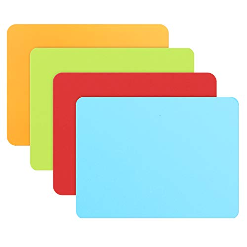 Extra Thick Silicone Mats - 15.7 x 11.8 inch x 1.5mm, Gartful Crafts Table Mat, Heat Resistant Counter Top Protector Pad, Place Mats, Arts Sheets for Resin Jewelry Casting Molds, Air Fryer, SNC, Set of 4
