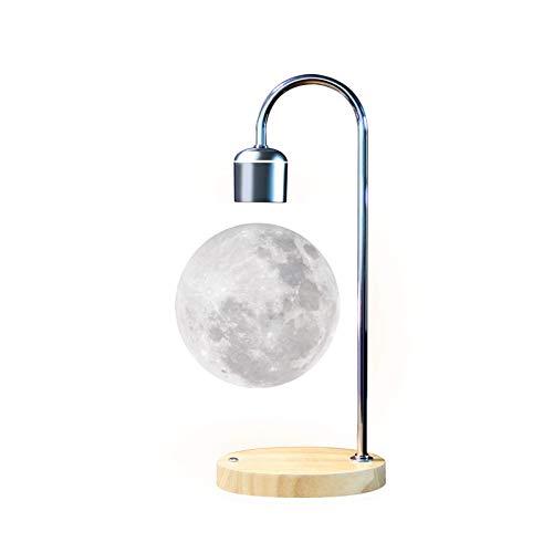 Gleagle Lámpara lunar levitante flotante 3D regalo para oficina levitación magnética LED antigravedad luz nocturna imán giratorio juguetes de escritorio casa dormitorio decoración