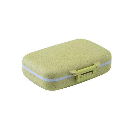 niumanery 6 Compartments Pill Box Medicine Tablet Container Vitamin Drug Holder Case Jewelry Storage Portable Travel Kit Organizer Green