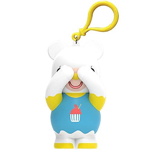 Milue Bola de silicone para apertar o urso gritar, brinquedo para reduzir a pressão, alívio da ansiedade, brinquedos para adultos
