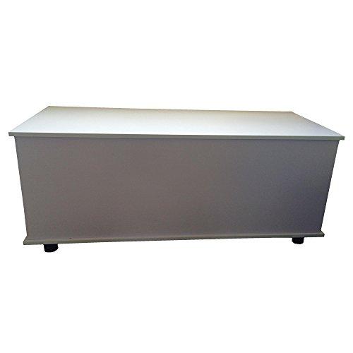Redstone Holztruhe Sitztruhe weiß, 100x40x40cm - 2