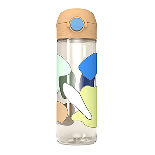 Bodhi2000 Botellas de agua a prueba de fugas para niños Protable Kids Cup Printing Botellas de agua reutilizables sin BPA, botella de agua personalizada naranja