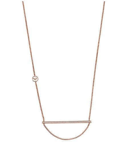 Emporio Armani Damen-Collier Simplicity 1 925er Silber Zirkonia rosé, One Size