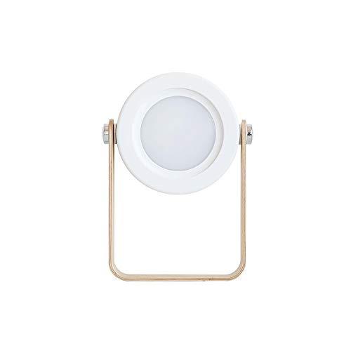Lichao LED-tafellamp, lantaarn draadloos, werkt op batterijen met ABS-batterij, 6 x 1,5 x 7,6 inch, nachtlampje, verstelbaar, geschikt voor kantoor, slaapkamer, etc, wit
