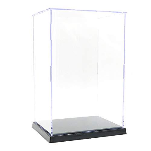 ELEpure - Scatola di presentazione in acrilico trasparente a 3 niveli, montaggio a banco, protezione antipolvere, vetrina per figure d'azione Pop, giocattoli da collezione (25 x 18 x 30 cm)
