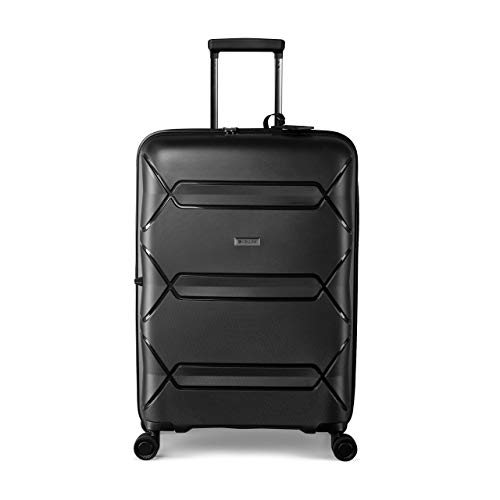 Cellini Supalite Hard Shell Travel Trolley Suitcase - Available as Check In or Carry On Hand Luggage Bag - Choice of Sizes & Colours - 5 Year Warranty
