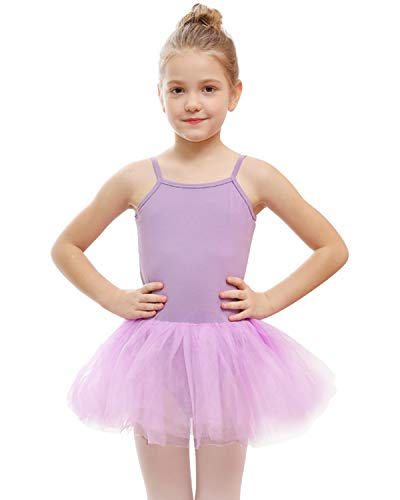 STELLE Girls' Camisole Tutu Dress for Dance, Gymnastics&Ballet (Toddler/Little Kids/Big Kids) (XS, Purple)