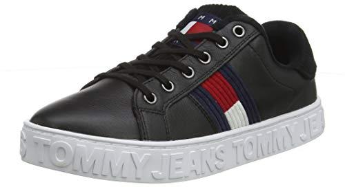 Tommy Hilfiger Damen COOL WARM Lined Sneaker, Schwarz (Black Bds), 39 EU