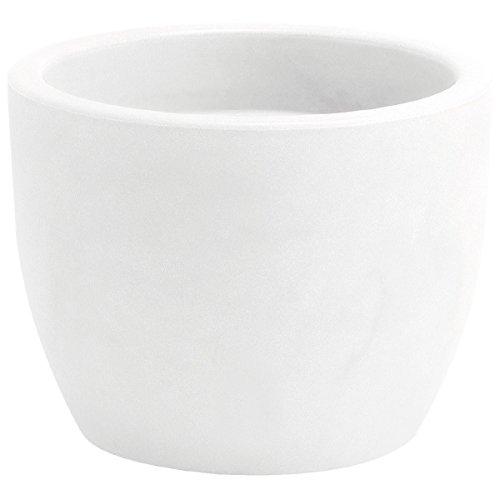 hydroflora 63001430 vaso Nicoli Hera, diametro 40 cm, altezza 30 cm, colore bianco opaco
