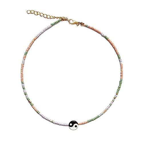 CHENLING Bohemia colorido collar de cuentas natural adorno de perlas exquisito gargantilla regalo para amigos 2021 verano joyería tendencia y2k