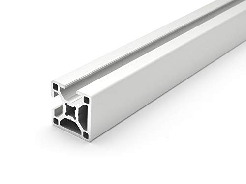 Designprofil/Aluminiumprofil 30x30 B-Typ Nut 8 / 2N 90 Grad - ZUSCHNITT bis 2000 mm (11 EUR/m + 0,3 EUR pro Schnitt, min. 2,50 EUR) 2000mm